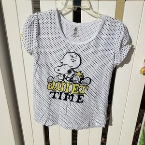 Peanuts Quiet Time short sleeve graphic t-shirt XL
